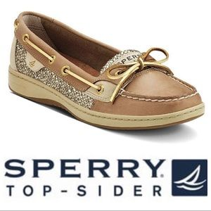 NWOT Sperry Angelfish Top Sider Boat Shoe Gold 7M